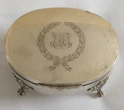 STERLING SILVER JEWELLERY BOX 5.5 oz