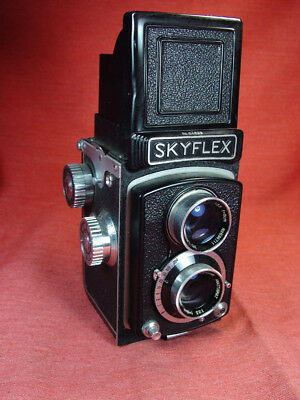 Skyflex TLR camera Lens Tri-Lausar 8cm f-3.5 Excellent made in Japan