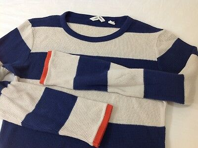 COUNTRY ROAD boys size 10 striped long sleeved top tee waffle
