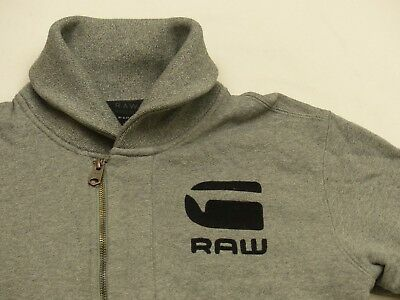 G STAR RAW Winter Sweater Jacket Correctline Gray Vintage Size M L Tip Top