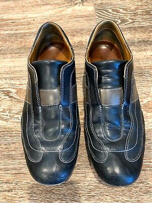 Cole Haan mens black slip-on casual shoes 9.5 9 1/2 Nike Air