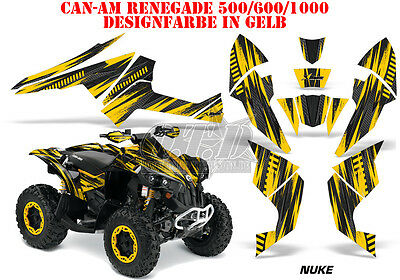 Amr Racing Dekor Kit Atv Can-Am Renegade, Ds250, Ds450, Ds650 Nuke Graphic Kit B