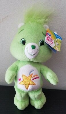 """New Care Bears Oopsy Bear plush beanie 2007 with tags 8"""""""