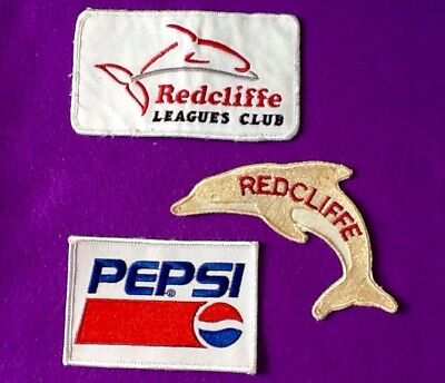 BARGAIN Rugby League Lot (3) Redcliffe DOLPHINS Badges Patches ... FREE POST