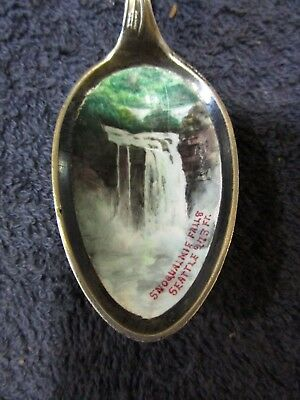 Sterling Spoon War Chief Motif Enamaled bowl Snoqualmie Falls