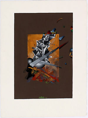GEORGES DUSSAU - 1980 Signed Original Gouache and Watercolor on Paper Painting