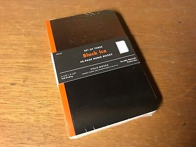Field Notes Sealed Black Ice Edition Notebooks