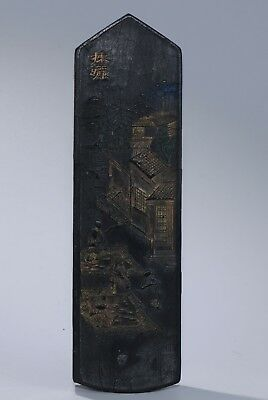 Traditional Chinese Carving Black Ink Stick Marks A3689