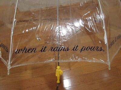 Vtg Morton Salt Vinyl Umbrella Advertising Premium, When It Rains It Pours