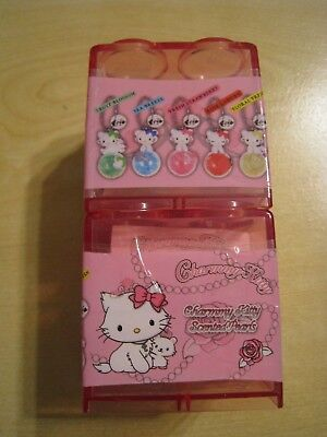 Sanrio Charmmy Kitty Hello Kitty Scented Pearls Keychain Pink Box - Set of 2