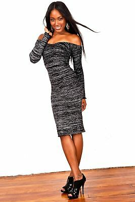 Knee High Sexy Sweater Dress / Cocktail Party Dress / Off Shoulder Dress
