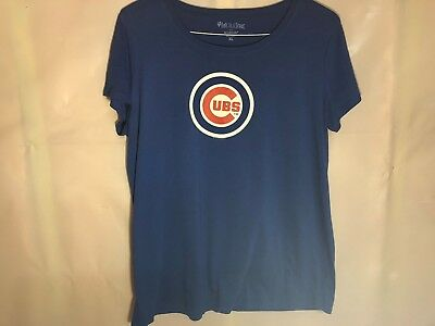 TWO Chicago Cubs Tshirts Motherhood Maternity Soft As A Grape XL *FREE ship