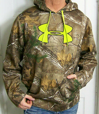 mens - UNDER ARMOUR hoodie - XL - STORM - REALTREE - CAMOUFLAGE - GRAPHICS