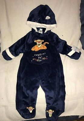 Disney Winnie The Pooh Tigger Winter Bunting Snowsuit Brand New 6-9 Months