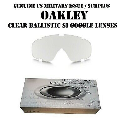 Oakley Tactical Si Ballistic Goggle Halo Array Lenses Clear Us Army Military New