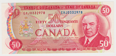 1975 Bank of Canada $50 Issue - Crow-Bouey - BC-51b