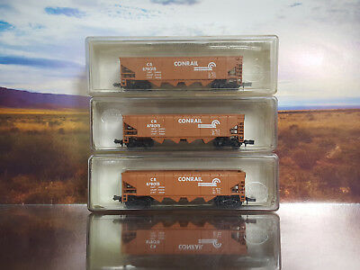 N Scale - 3 X Hoppers -  Conrail - Excellent Cond