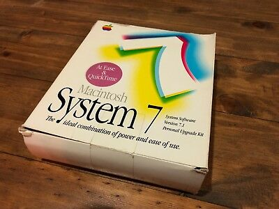 Apple Macintosh System 7 Software Personal Upgrade Kit Boxed Rare Vintage