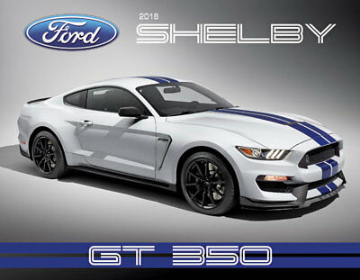 RARE & NEW! 2016 Ford SHELBY Mustang GT 350 Car Show Hero Card