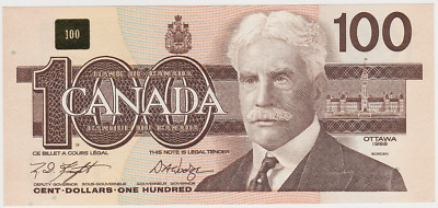 Unblemished 1988 Bank of Canada $100 - M.D. Knight - D.A. Dodge
