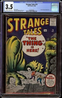 Strange Tales # 79 CGC 3.5 OW/W (Marvel, 1960) Jack Kirby and Steve Ditko cover