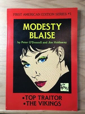 1981 Modesty Blaise Peter O'Donnell Jim Holdaway First American Edition Series 1