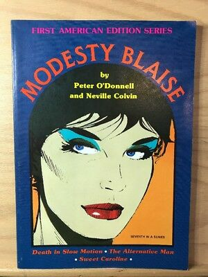 1986 Modesty Blaise Peter O'Donnell Jim Holdaway First American Edition Series 7