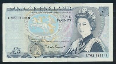 "Great Britain: (1980) £5 Sig. Somerset QEII ""THIN"" SECURITY THREAD. Cat UNC $53"