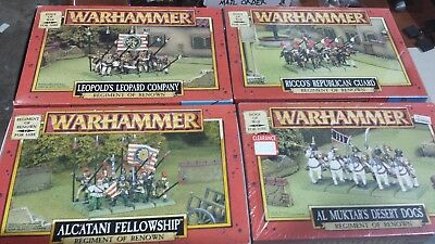 Warhammer Fantasy OOP Dogs of War Army, Mostly Unpainted and Unassembled.