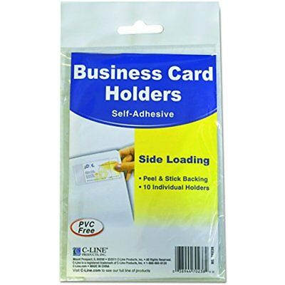 Sale C-Line 70238 Self-Adhesive Business Card Holders, Side Load, 1/2 X 2, Clear