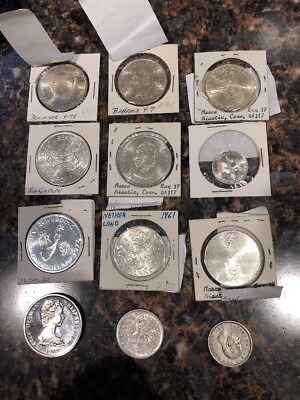 Lot of 12 Foreign Silver Coins - Please See Description For Details 171.19g Silv