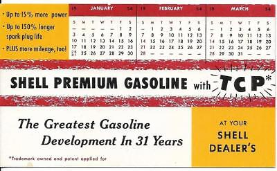 Vintage Advertisement Ink Blotter - Shell Premium Gasoline with TCP