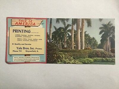 Yale Brothers, Waynesfield Ohio near Wapakoneta UNUSED INK BLOTTER