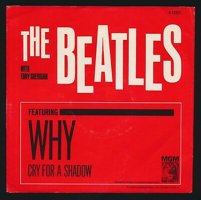 Beatles RARE 1964 MGM ' WHY ' PICTURE SLEEVE! NICE VG+++ EXAMPLE! NICE & FLAT