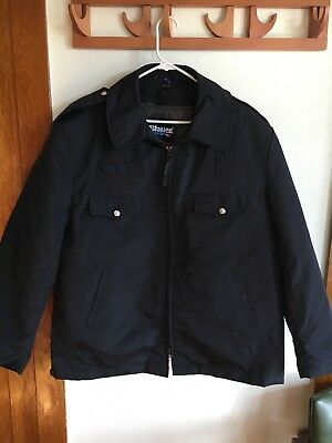 Blauer 78845 vintage Law Enforcement jacket black with liner XL
