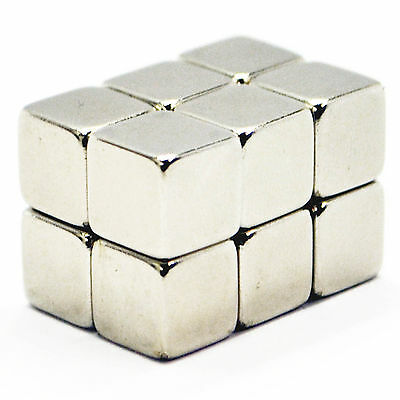 Strong 10mm x 10mm x 10mm NdFeb Neo Magnetic Cube Cuboid Neodymium Magnets