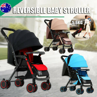 Lightweight Reverse Fold Compact Baby Stroller Prams Newborn Pushchair Travel