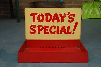 """Vintage Retro Mid Century """"TODAY'S SPECIAL!"""" Store Advertising Display Sign Tray"""
