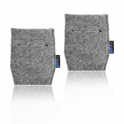 BCP 2-Piece Pocket Square Card Holder for Man's Suits Light Gray Color