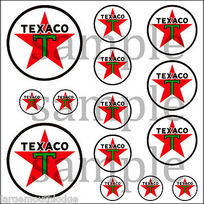 Texaco (B) Hobbie Decals Decal Quality Waterslide Truck Train Diorama Layout