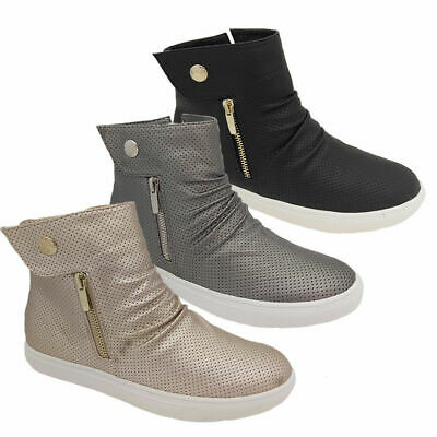 Ladies Shoes Step On Air Kiki Casual Ankle Boot Zip side Flat Size 6-10 New