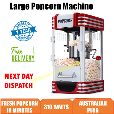 Popcorn Popper Maker Home Cinema Family Movie Theatre Retro Style Party Machine