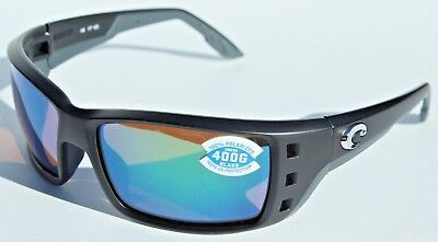 4559f86f39 COSTA DEL MAR Permit POLARIZED Sunglasses Black Green Mirror 400G NEW  199