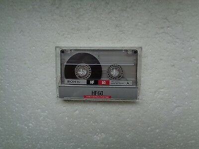 Vintage Audio Cassette SONY HF 60 From 1988 - Fantastic Condition !!
