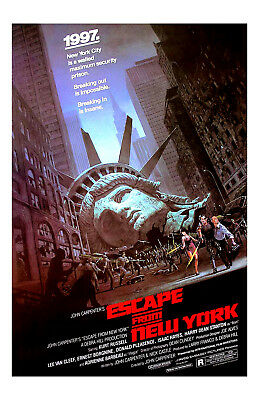 Escape From New York Movie Poster 11x17 in / 28x43 cm Kurt Russell