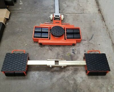 12 Ton heavy machine dolly skate machinery roller mover cargo trolley steerable