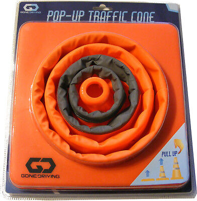 "15"" Collapsible Pull Out / Pop Up Safety Emergency Accident Traffic Road Cone"