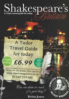 Magazine Advertisement - Shakespeare's Britain (a Tudor Travel Guide for Today)
