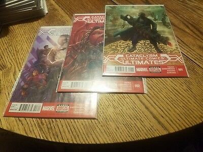 Cataclysm, Ultimate Comics, the Ultimates, issues 1 2 and 3. Marvel
