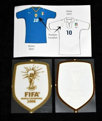 Official Italy Fifa 2006 World Cup Winner Football Shirt patch/Badge Lextra